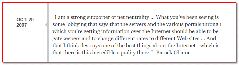 Net Neautrality Quote Barack Obama