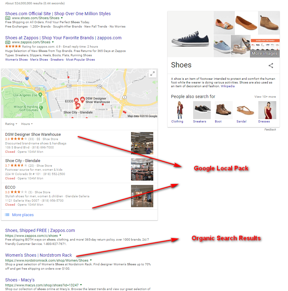 Search SHOES Local SEO