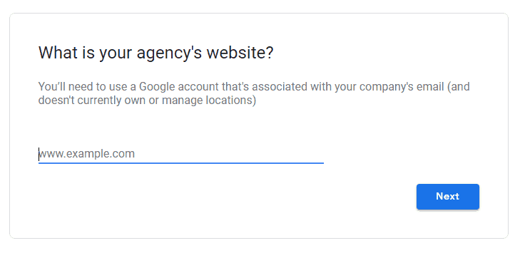 Google My Business Agency Access